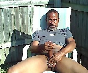 Jerking and cumming outside