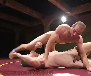 Bare Guys Wrestle To Pound