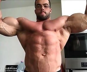 Bodybuilder Posing for..