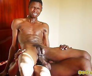 Barebacking african assfucks..