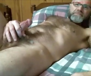 Mature dudes jizz flow..