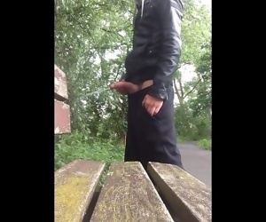 Boy Pissing in Public with a..